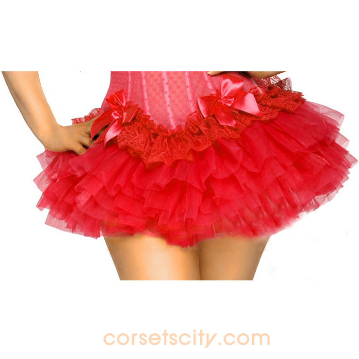 Red Puff Short Skirt HP5717