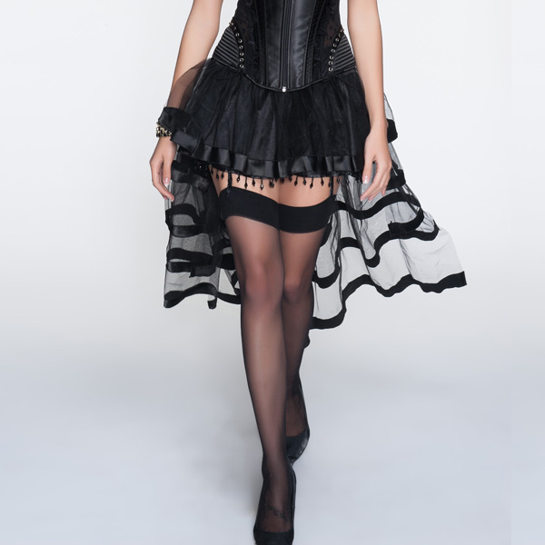 Black Long Tail Petticoat HP9080