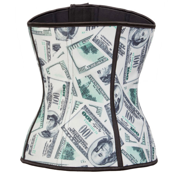 2015 New Dollar Latex Steel Boned Shaper Underbust Corset For Waist training And GYM HP8054