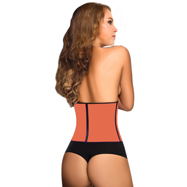 3 Hooks Latex Waist Cincher Steel Boned Corsets Orange HP1105