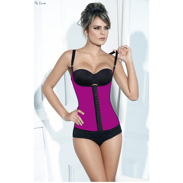Latex Girdle Vest Body Shaper Waist Trainer Rose Corsets HP1205