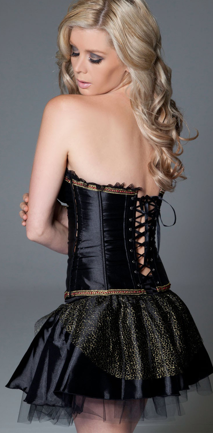 Chain Underwired Corset & Skirt HP5049