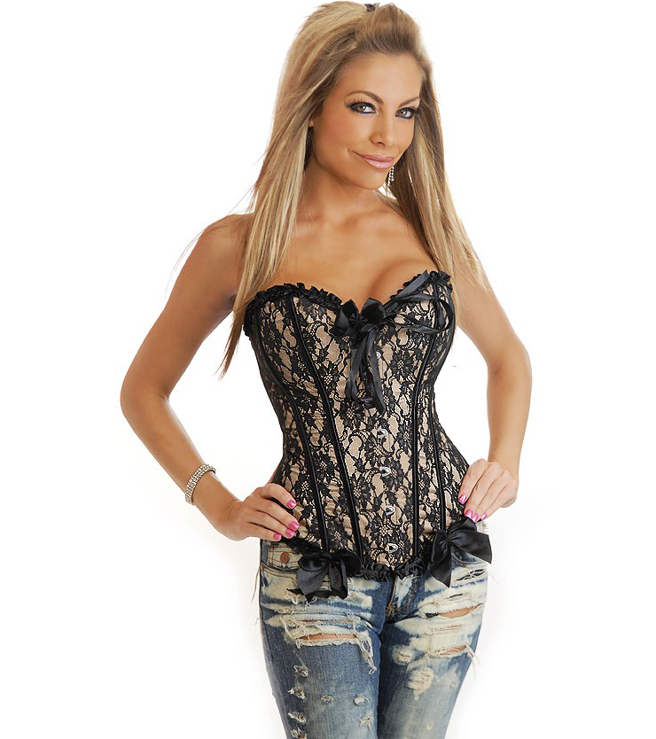 Black And Beige Corset HP5467