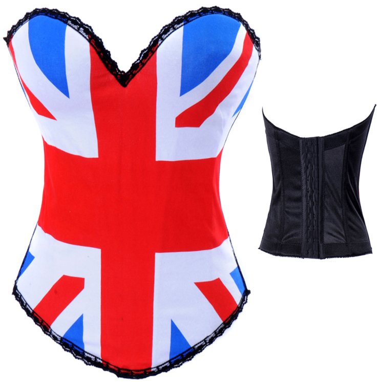 British Flag Print Corset HP5201
