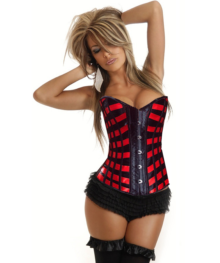 Burlesque Ribbons Overbust Corset HP5463