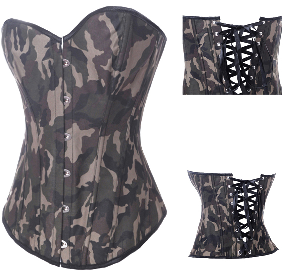 Camo Queen Burlesque Corset HP5943