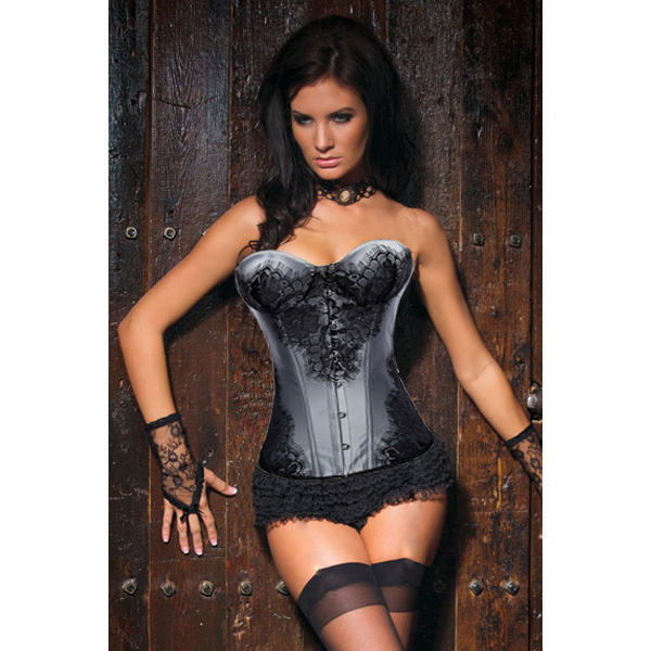 Classical Lace Overlay Corset HP5435