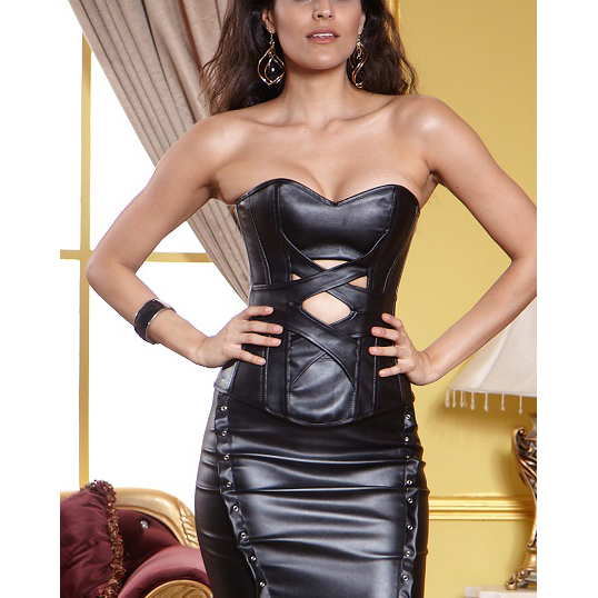 Criss Cross Leather Corset HP5154