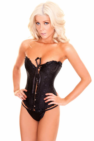 Embroidered Burlesque Corset HP6013