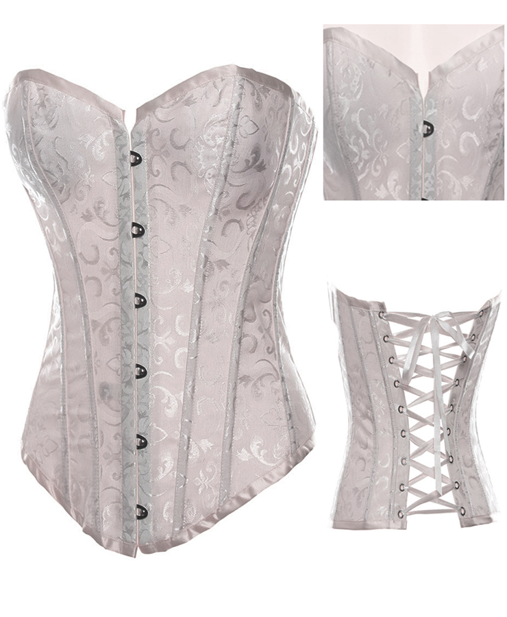 Embroidered Satin Adult Corset HP5887