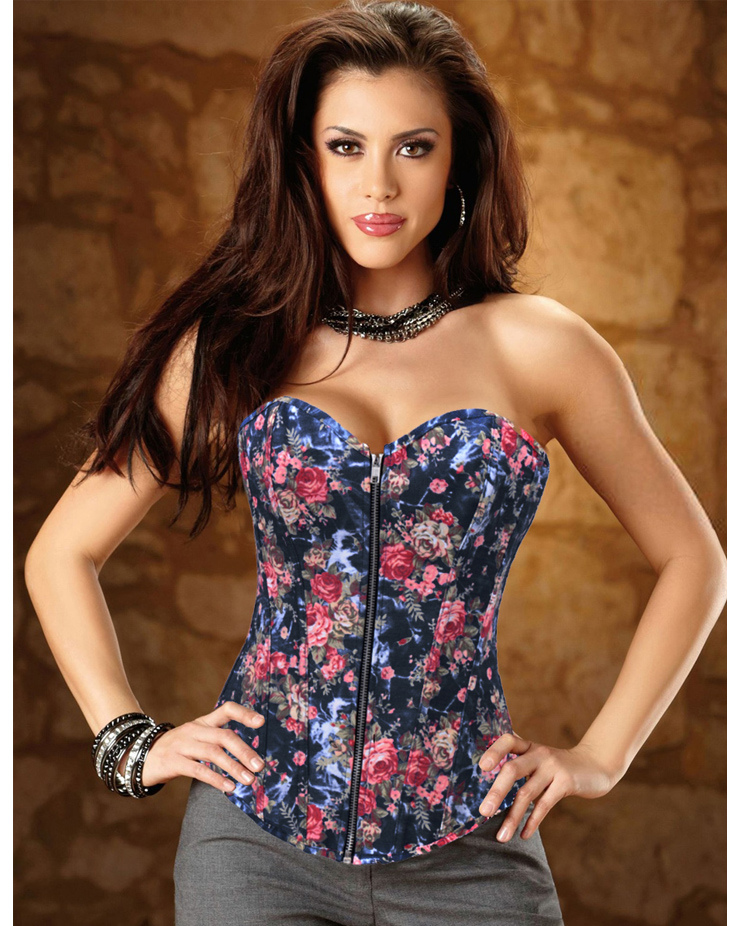 Floral Fantasy Corset With Zipper HP5329