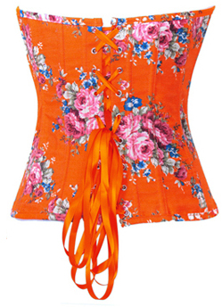 Floral Fantasy Denim Corset Orange HP5335