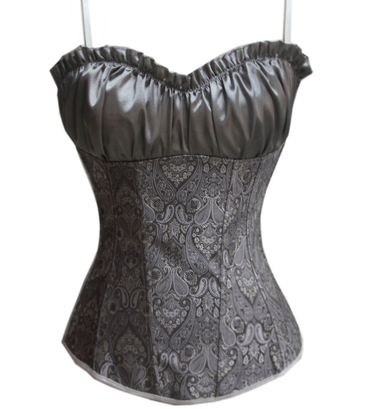 Gray Renaissance Corset Top HP6008
