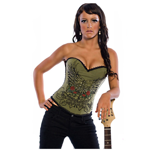 Magic Printed Rhinestone Corset HP5412