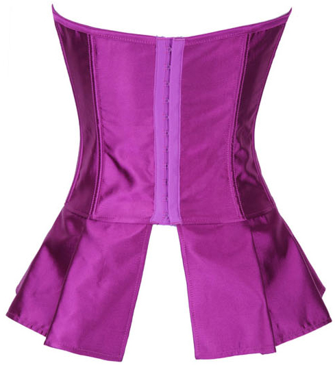 Purple Satin Skirted Corset HP5230