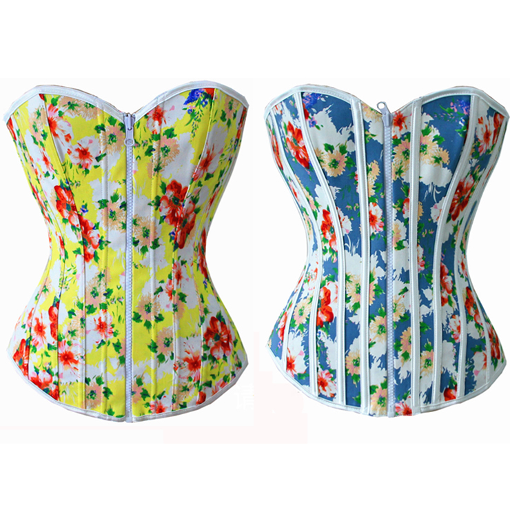 Rainbow Floral Print Reversible Corset HP5155