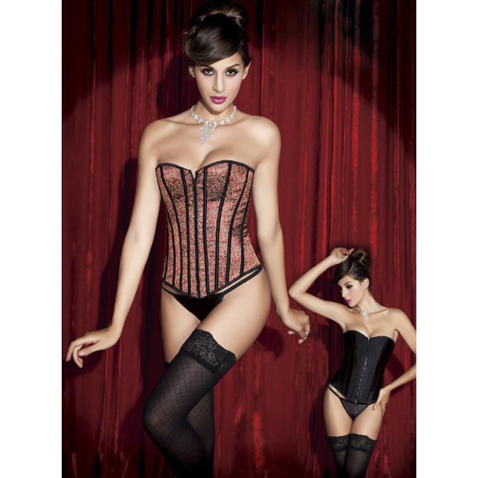 Red Leopard Reversible Corset HP5265