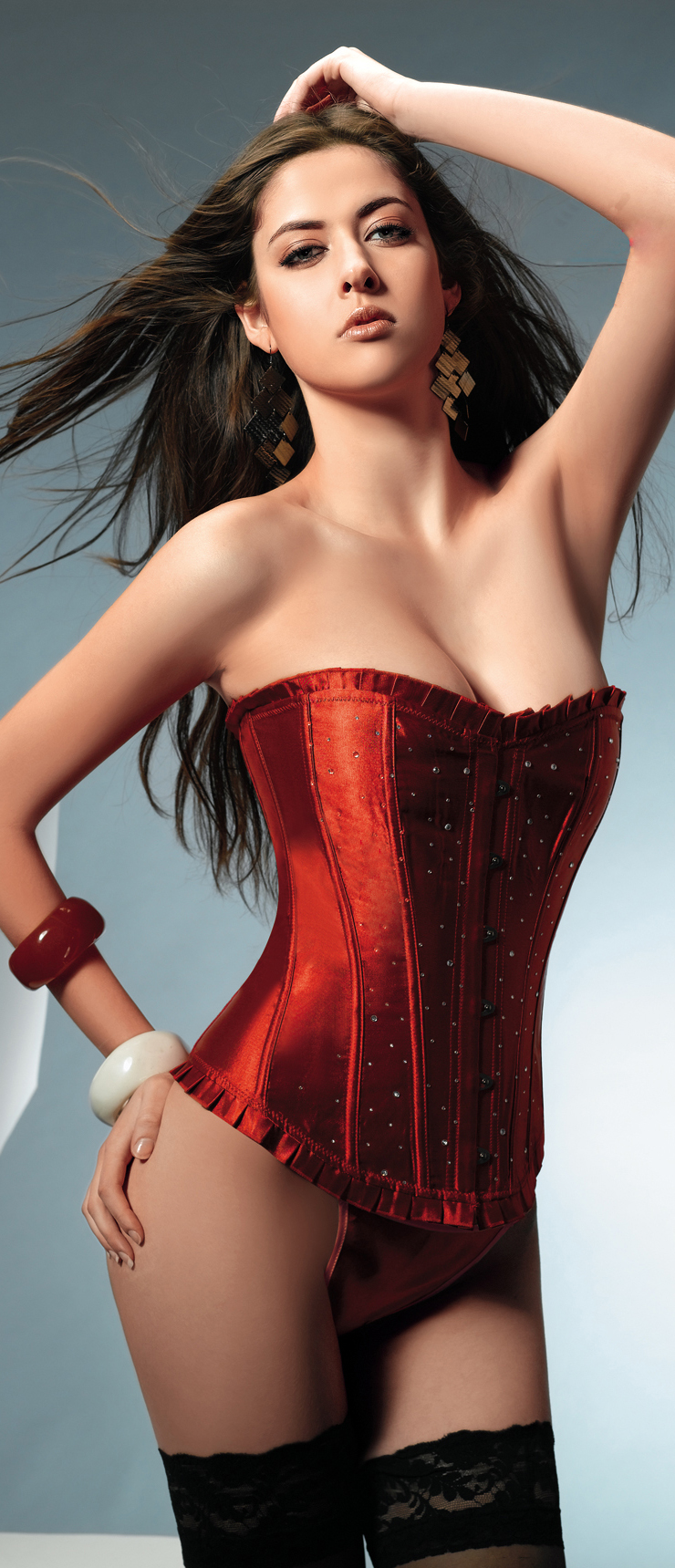 Red Sparkle Corset HP5605