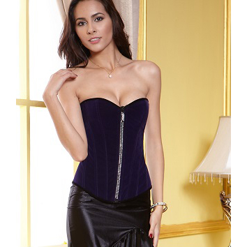 Royal Blue Velvet Corset HP5173
