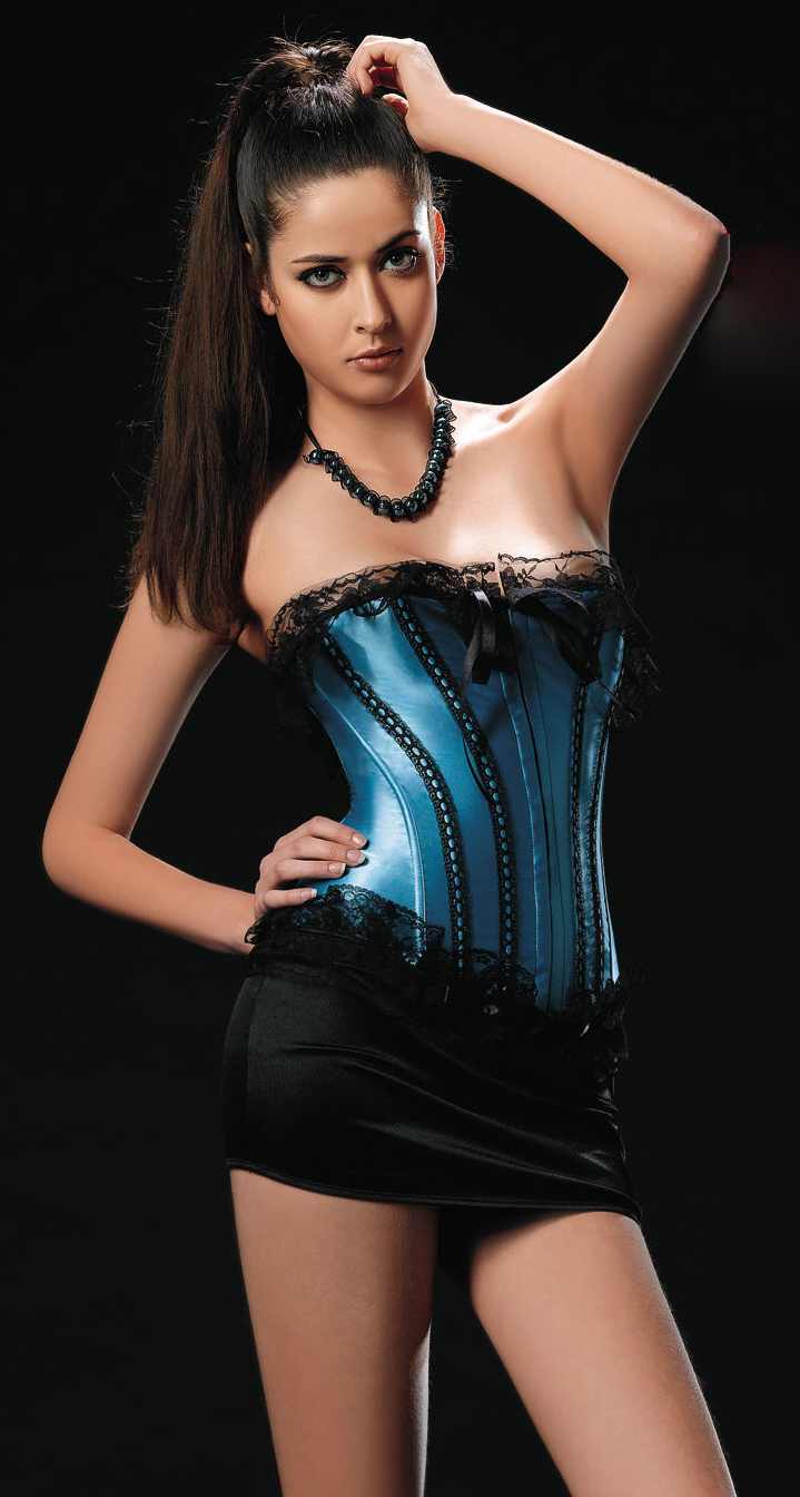 Satin Ruffled Corset HP5612