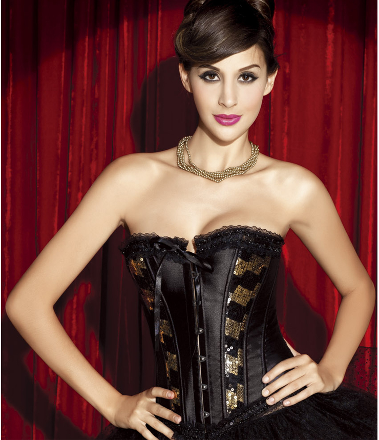 Sequin And Satin Corset HP5377
