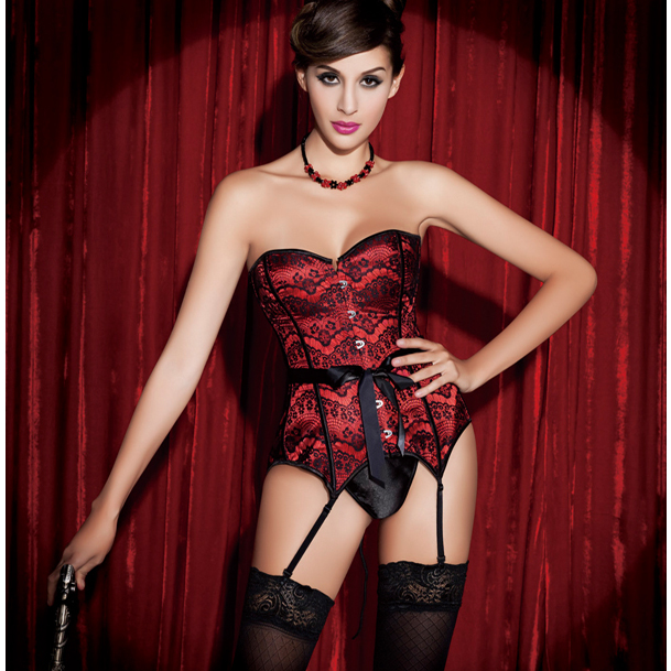 Strapless Red Lace Fantasy Corset HP5461