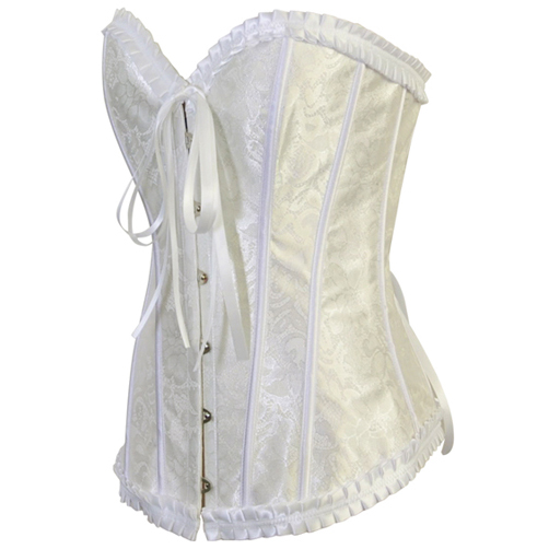 Strapless White Burlesque Corset HP5881
