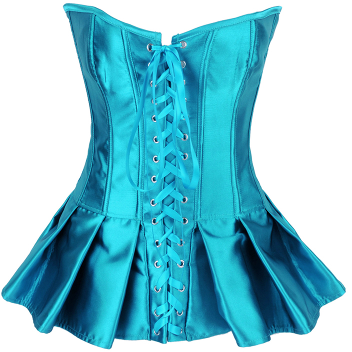Turquoise Skirted Corset HP5232