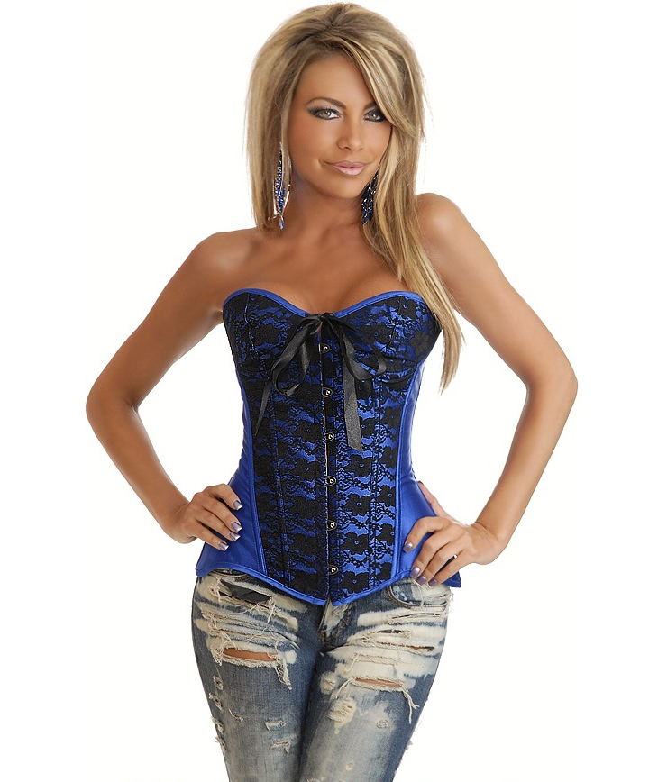 Blue Burlesque Corset HP5969