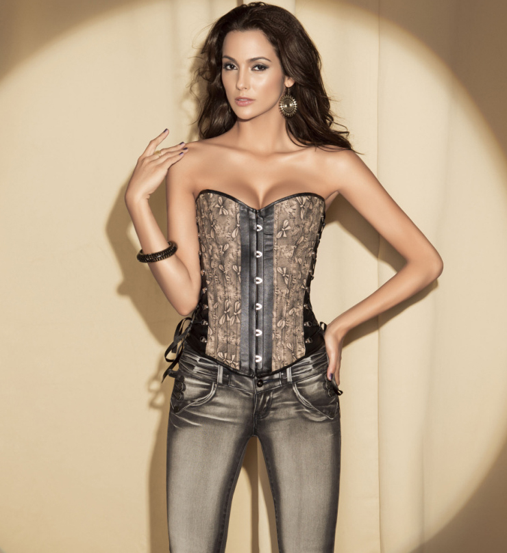 Corset With Lace-Up Accented Front HP5363