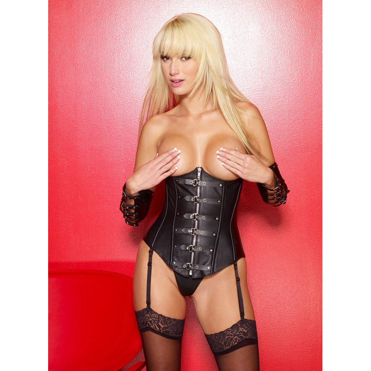 Cupless Leather Corset HP5707