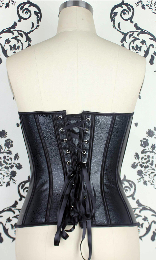 Faux Leather Strapless Corset HP5678