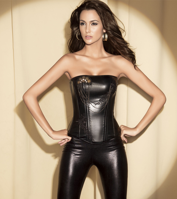 Leather Corset With Beaded HP5675