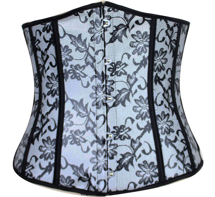 Leather Floral Fantasies Underbust Corset HP5684