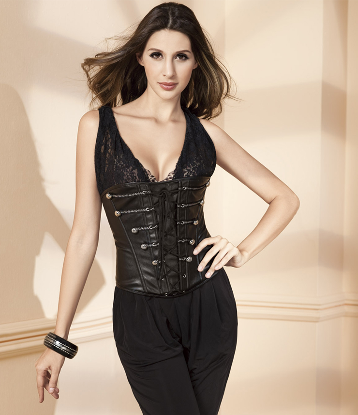 Leather Underbust Corset HP5688