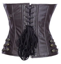 Maroon Chains Steam Punk Corset HP6032