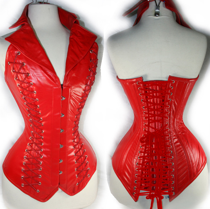 Vest Leather Corset Red HP5671