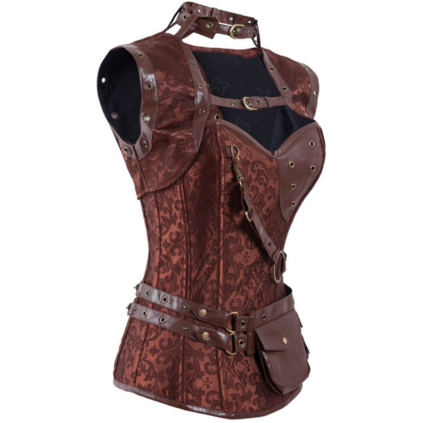 Steampunk High Neck Corset With Jacket HP5156