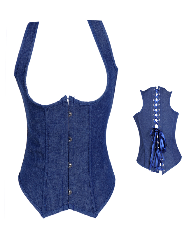 Blue Denim Underbust Corset HP5818