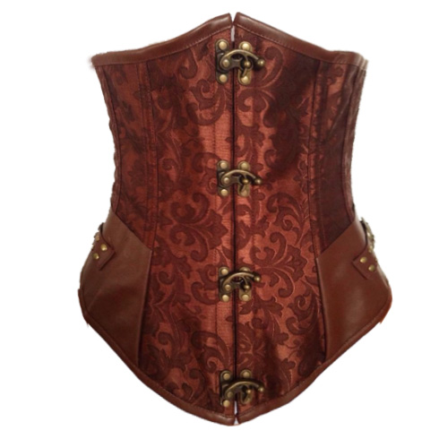 Brown Steel Boned Steampunk Underbust HP5781