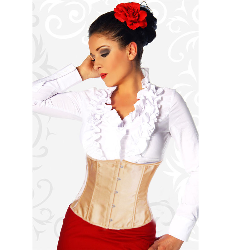 Brown Satin Underbust Corset HP5791