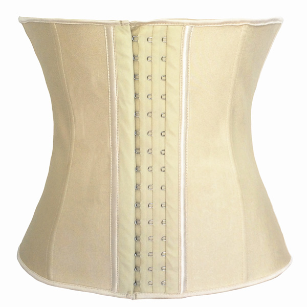 Womens Latex Steel Boned Girdles Tummy Tuck Underbust Waist Training Corsets HP1250